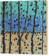 Celebration - Abstract Landscape  Wood Print