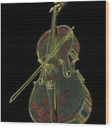 Cello Music Instrument Professional Musician Designed Wood Print