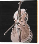 Cello String Music Instrument Musician Color Designed Wood Print