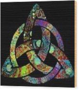 Celtic Triquetra Or Trinity Knot Symbol 3 Wood Print