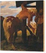 Centaur At The Village Blacksmith Shop 1888 Wood Print