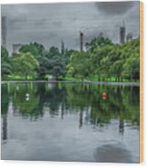 Central Park Reflections Wood Print
