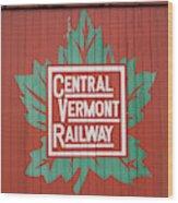 Central Vermont Railway Wood Print