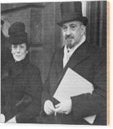 Chaim Weizmann And His Wife Vera Wood Print