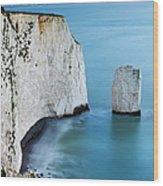 Chalk Cliffs And Sea Stack At South Wood Print