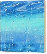 Champagne Sea 2 Wood Print