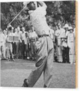 Champion Golfer Ben Hogan Wood Print