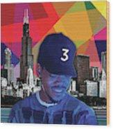 Chance Chicago Wood Print