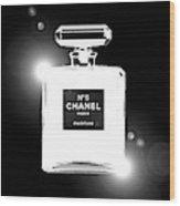Chanel Lights Bw Wood Print