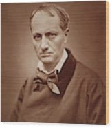 Charles Baudelaire, French Poet, Portrait Photograph  Wood Print