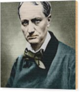 Charles Baudelaire, French Writer, Photo Wood Print