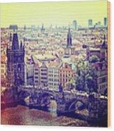 Charles Bridge, Prague Wood Print