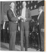 Charles Lindbergh Receiving Hubbard Wood Print