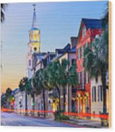Charleston, South Carolina, Usa Wood Print