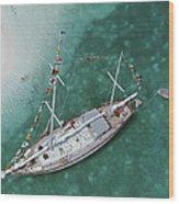 Charter Ketch Wood Print