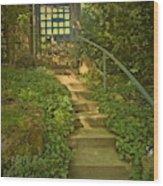 Chateau Montelena Garden Stairway Wood Print