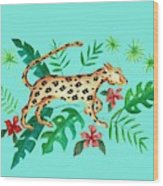 Cheetah's Hunt Wood Print