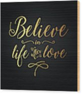 Cher - Believe Gold Foil Wood Print