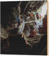 Chhungsi Cave From The Inside, Mustang Wood Print