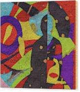 Chiang Mai Buddha Collage 6 Wood Print