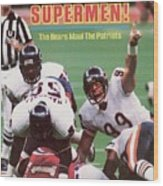 Chicago Bears Dan Hampton, Super Bowl Xx Sports Illustrated Cover Wood Print