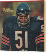 Chicago Bears Dick Butkus, 1970 Nfl Football Preview Issue Sports Illustrated Cover Wood Print