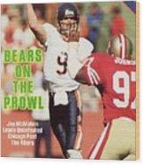 Chicago Bears Qb Jim Mcmahon... Sports Illustrated Cover Wood Print