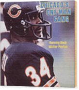 Chicago Bears Walter Payton Sports Illustrated Cover Wood Print