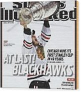 Chicago Blackhawks Jonathan Toews, 2010 Nhl Stanley Cup Sports Illustrated Cover Wood Print