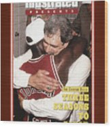 Chicago Bulls Coach Phil Jackson And Michael Jordan, 1993 Sports Illustrated Cover Wood Print