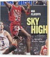 Chicago Bulls Michael Jordan, 1988 Nba Eastern Conference Sports Illustrated Cover Wood Print