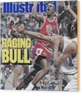 Chicago Bulls Michael Jordan, 1989 Nba Eastern Conference Sports Illustrated Cover Wood Print