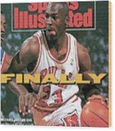 Chicago Bulls Michael Jordan, 1991 Nba Eastern Conference Sports Illustrated Cover Wood Print