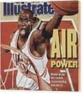 Chicago Bulls Michael Jordan, 1991 Nba Finals Sports Illustrated Cover Wood Print