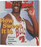 Chicago Bulls Michael Jordan, 1992 Nba Finals Sports Illustrated Cover Wood Print