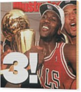 Chicago Bulls Michael Jordan, 1993 Nba Finals Sports Illustrated Cover Wood Print