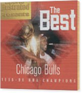 Chicago Bulls Michael Jordan, 1996 Nba Finals Sports Illustrated Cover Wood Print