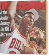 Chicago Bulls Michael Jordan, 1997 Nba Finals Sports Illustrated Cover Wood Print