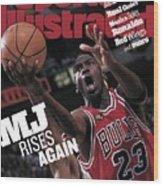 Chicago Bulls Michael Jordan, 1998 Nba Finals Sports Illustrated Cover Wood Print
