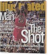 Chicago Bulls Michael Jordan, 1998 Nba Finals Sports Illustrated Cover Wood Print