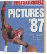 Chicago Bulls Michael Jordan Sports Illustrated Cover Wood Print