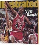 Chicago Bulls Michael Jordan... Sports Illustrated Cover Wood Print