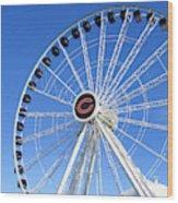 Chicago Centennial Ferris Wheel 2 Wood Print