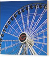Chicago Centennial Ferris Wheel Wood Print