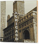 Chicago Cinema Theater - Vintage Photo Art Wood Print