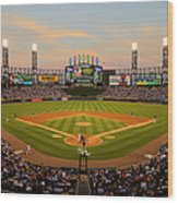 Chicago Cubs V Chicago White Sox Wood Print