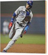 Chicago Cubs V New York Mets Wood Print