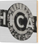 Chicago Theater Marquee - T-shirt Wood Print