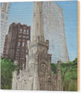 Chicago Water Tower 1c Wood Print