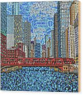 Chicago Wells Street Bridge 2 Wood Print